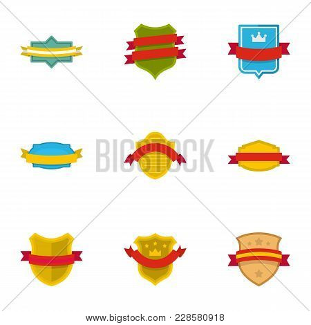 Flag Of Truce Icons Set. Flat Set Of 9 Flag Of Truce Vector Icons For Web Isolated On White Backgrou