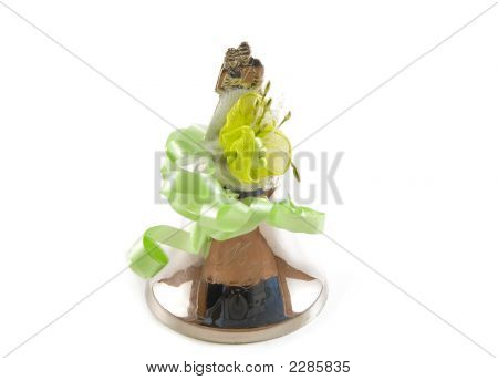 Wedding Bell On White