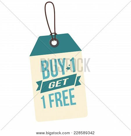 Price Tag Buy 1 Get 1 Free Illustration Vector Image Design