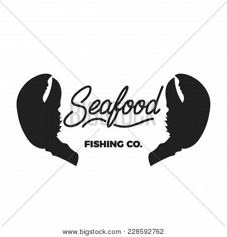 Seafood. Seafood Lettering Illustration. Seafood House Label Badge Emblem.
