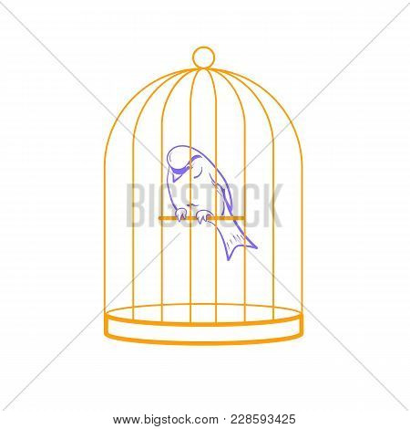 Bird In A Cage Linear Style