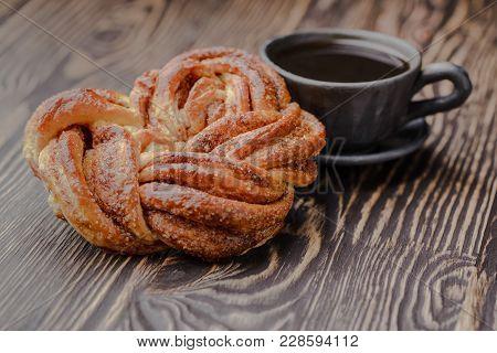 Estonian Bun With Cinnamon, Cinnamon Bun, Vanilla Roll.