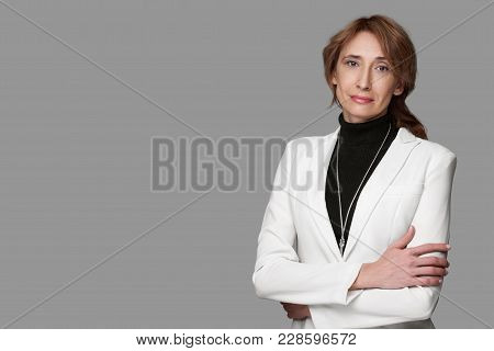 Middle Aged Businesswoman Isolated
