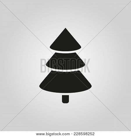 Christmas Tree Icon. New Year And Xmas, Christmas, Winter Symbol. Flat Design. Stock - Vector Illust