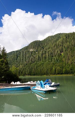 Pedal Boats On Lake Pillersee, Sankt Ulrich Am Pillersee, Austria