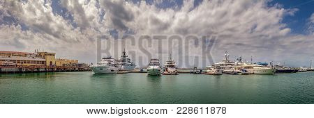 Sochi, Russia - May 21, 2016: Panoramic View Of The Marina.