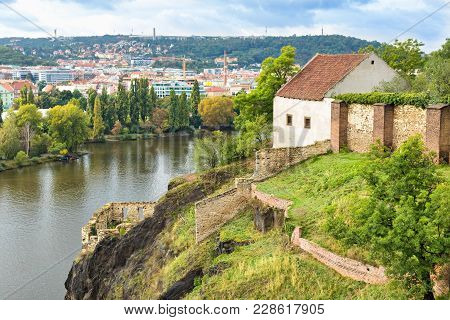 Ruins Of Libuse's Bath In Vysehrad, Prague