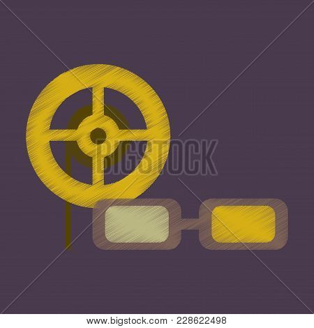 Flat Icon In Shading Style 3d Cinema