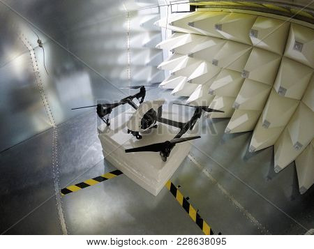 Quadcopter Drone Electromagnetic Compatibility Testing Inside Gtem Cell