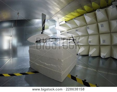 Helicopter Drone Electromagnetic Compatibility Testing Inside Gtem Cell