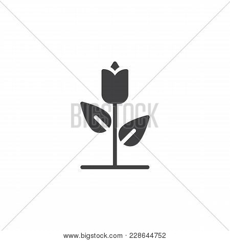 Rose Flower Vector Icon. Filled Flat Sign For Mobile Concept And Web Design. Floret Simple Solid Ico