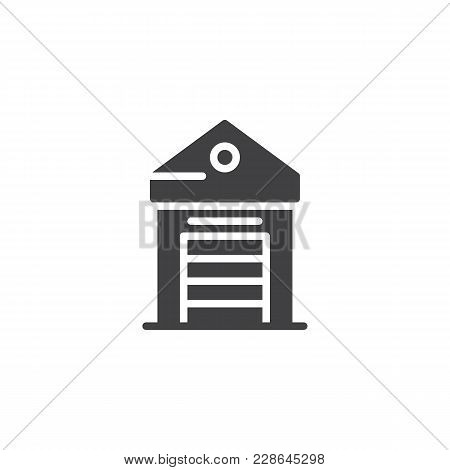 Greenhouse Vector Icon. Filled Flat Sign For Mobile Concept And Web Design. Glasshouse Simple Solid