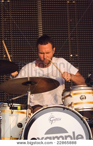 Example's Drummer At Lounge On The Farm