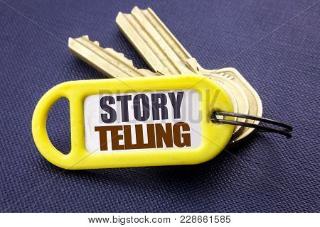 Handwriting Announcement Text Showing Storytelling. Business Concept For Teller Story Message Writte