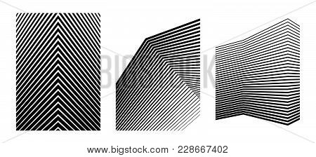 Design Elements. Curved Many Streak. Abstract Circular Wireframe Mesh Logo Element On White Backgrou