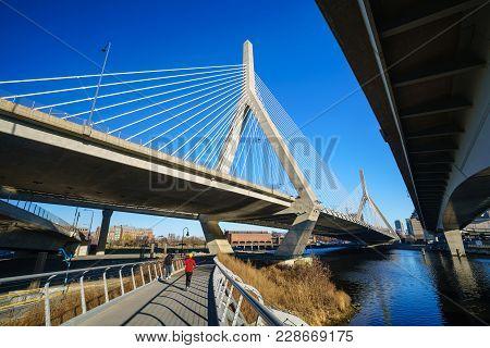 The Zakim Bridge In Boston, Massachusetts