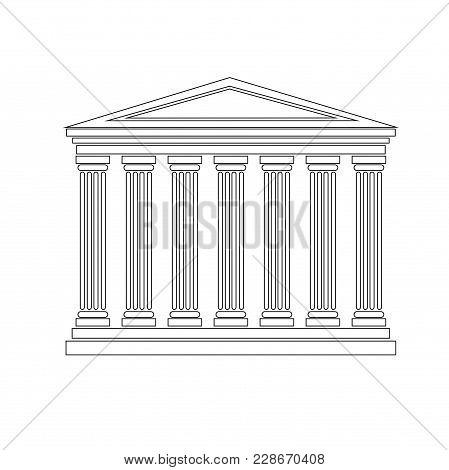 Design Element Symbol Judicial Building Legal Icon Law Theme02