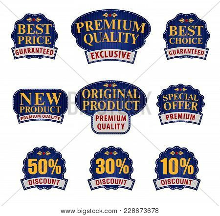 Collection Of Premium And High Quality Labels For Traders Or Consumers