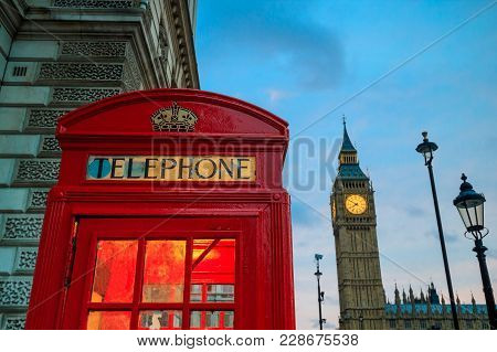 Red Phone Booth And Big Ben