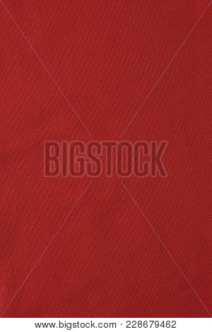 Texture Of Red Nylon Fabric - Aviation Tarpaulin Close Up, Which Used In Industry, Aviation And For