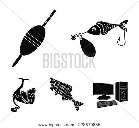 Fishing, Fish, Catch, Hook .fishing Set Collection Icons In Black Style Vector Symbol Stock Illustra