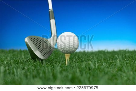 Ball Tee Golf Game Sport Leisure Green