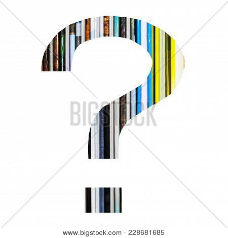 Question Mark, Colors Book Background, Isolated On White