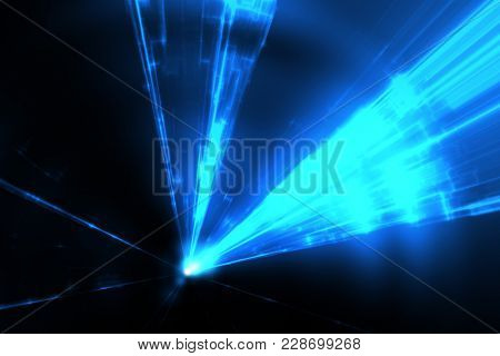 Illustration of some blue laser rays