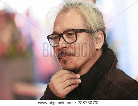 Lav Diaz attends the 'Season of the Devil' (Ang Panahon ng Halimaw) premiere during the 68th  Film Festival Berlin at Berlinale Palast on February 20, 2018 in Berlin, Germany.