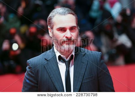 Joaquin Phoenix attends the 'Don't Worry, He Won't Get Far on Foot' premiere during the 68th  Film Festival Berlin at Berlinale Palast on February 20, 2018 in Berlin, Germany.