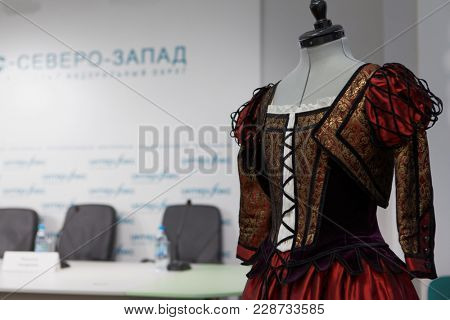 ST. PETERSBURG, RUSSIA - DECEMBER 11, 2017: Costumes by Jerome Kaplan for the ballet Don Quixote presented on the press conference dedicated to the premiere in Jacobson ballet theater
