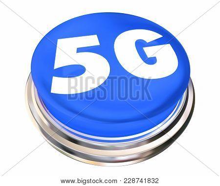 5G Button Cellular Mobile Network 3d Illustration