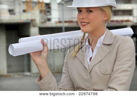 female entrepreneur in construction site