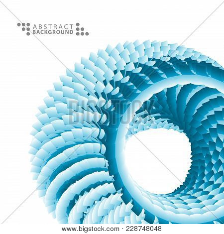 Geometric Colorful Abstract Background Template Design With Textured 3 D Like Circle Object