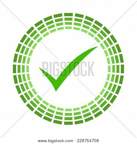 Ok Vector Bicolor Rounded Icon. Image Style Is A Flat Icon Symbol Inside A Circle, Eco Green Colors,