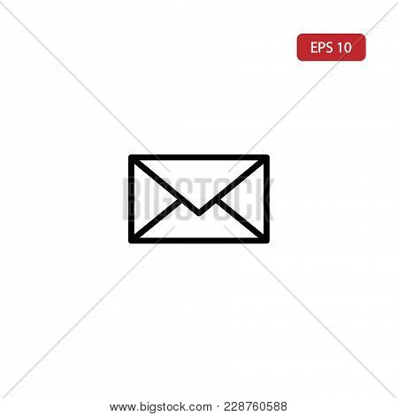 Envelope Vector Icon.email Vector Icon Eps10. Vector Icon Isolated On White Background.simple E-mail