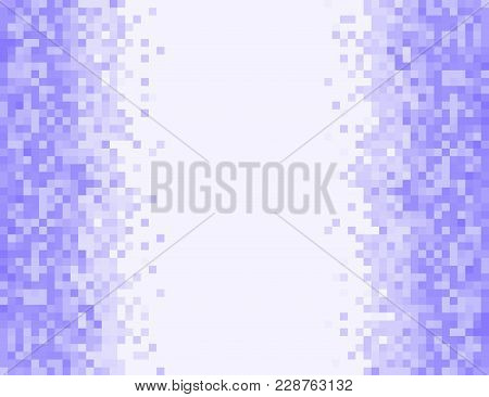 Lilac Vector Pixel Background In 8-bit Style. Abstract Digital Background With Mesh Of Squares. Geom