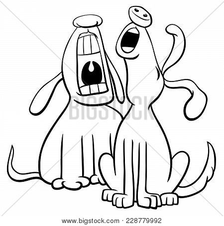 Barking Howling Dogs Vector Photo Free Trial Bigstock