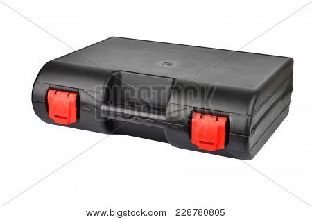 Plastic Case For Tool, Isolated On White Background