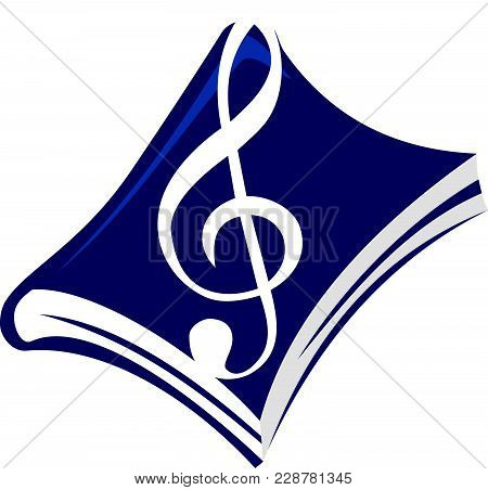 Music Book Logo Design Template Vector Isolated