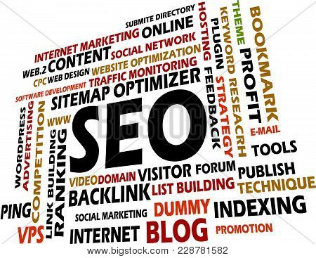 Search Engine Optimization Logo Design Template Vector Isolated