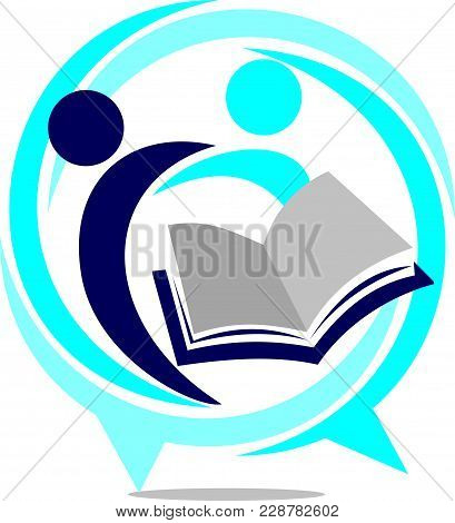 Education Sharing Icon Logo Template Vector Isolated