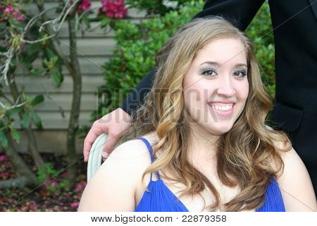 Smiling Prom Girl in Chair