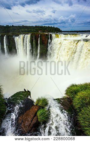 The Garganta del Diablo/ Devil's Throat is the most grandiose part of the Iguazu Falls on the Parana River. Concept of active and extreme tourism
