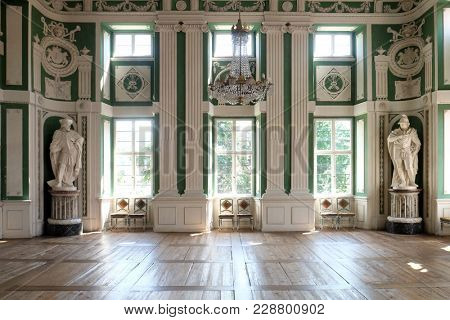 AMORBACH, GERMANY - JULY 08: Green Hall in Amorbach Benedictine abbey in the district of Miltenberg in Lower Franconia in Bavaria, Germany on July 08, 2017.