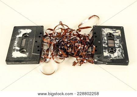 Photo Of A Selection Of Old Audio Cassettes
