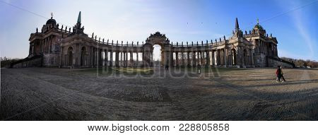 Potsdam, Germany- February 23, 2018: Sanssouci Palace in Potsdam, University buildings in Potsdam, located in the palace