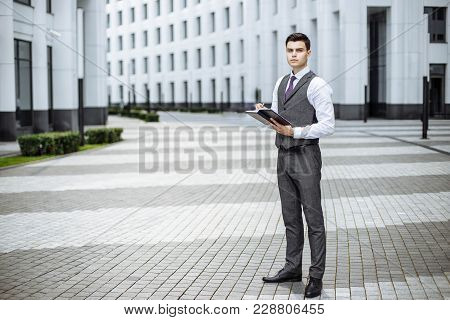 Handsome Confident Businessman Portrait. Handsome Confident Businessman Portrait