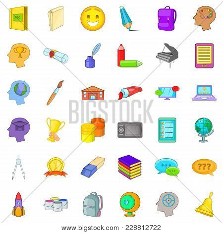 Interactive Access Icons Set. Cartoon Set Of 36 Interactive Access Vector Icons For Web Isolated On