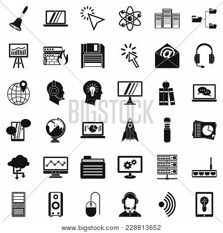 Online Workshop Icons Set. Simple Set Of 36 Online Workshop Vector Icons For Web Isolated On White B